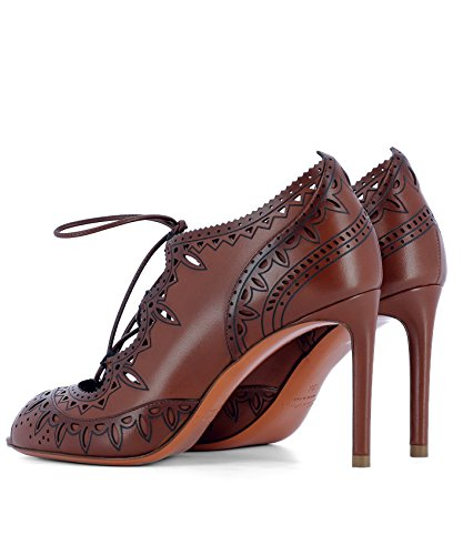 À Cuir Chaussures Talons Marron Santoni Femme WDGN56431HA2THYLM32 vqxA1BX