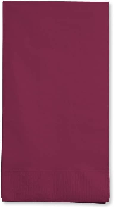 Creative Converting Burgundy Red Towels Paper Guest Napkin, 16 Count