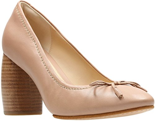 Clarks - Womens Grace Nina Shoe, Size: 8 B(M) US, Color: Nude Leather