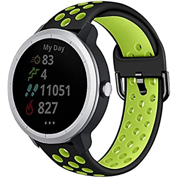 Amazon.com: 20mm Sport Silicone Watch Band Rubber Strap for ...