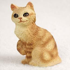(Manx, Red Tabby Tiny Ones Cat Figurines (2 in))