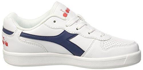 Diadora Playground GS, Zapatillas de Gimnasia Para Niños Blanco (Bianco Blu Estate)