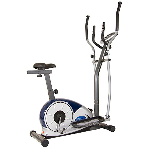 Elliptical Workout Programs - Body Champ 2 in 1 Cardio Dual Trainer/Elliptical Workout and Upright Exercise Bike with Heart Rate, Computer Resistance BRM3671