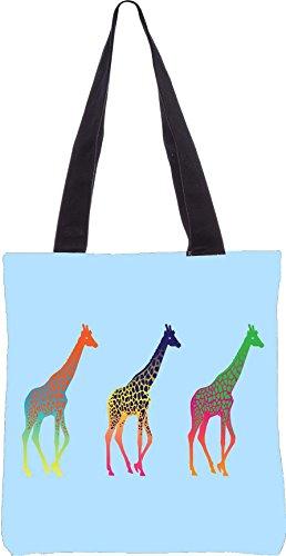 gemacht 15 Shopping Segeltuch Zoll 2666 5 Dienstprogramm Snoogg aus Polyester neon Einkaufstasche 13 x Giraffen 68RYp