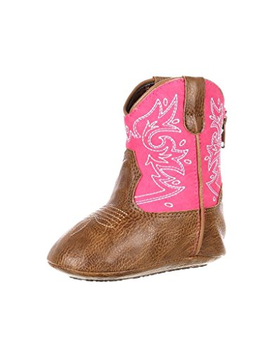 Cowgirl Baby Boots (Durango Baby DBT0150 Western Boot, Tan/Pink, 18.M M US Infant)