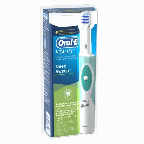 Oral-B Vitality balayage profond dents électrique rechargeable Propulsé par Braun 1 comte