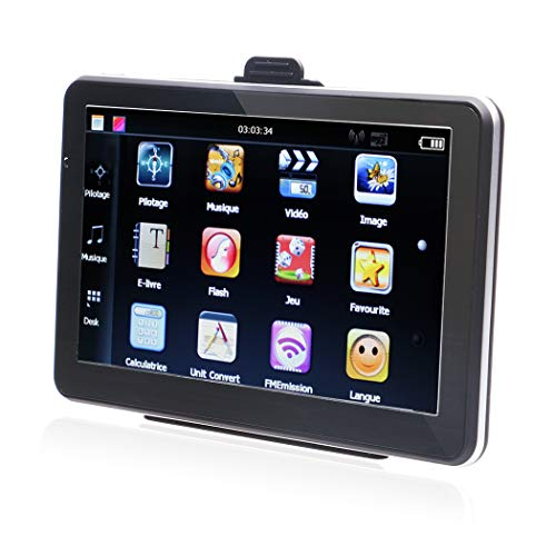 Car GPS Navigation with 24GB Capacity, NOVPEAK 7 Inch Capacitive Touch Screen Voice Prompt Capacitive Car Truck Navigator with 2018 World Map, Free Lifetime Updates, FM, Driver Alerts for US & Europe