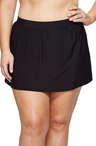 Miraclesuit Women's Plus Size Skirted Pants Bottom Black 16 W