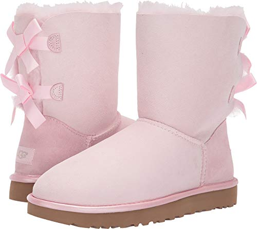 UGG Women's Bailey Bow II Metallic Seashell Pink 8 B US ()