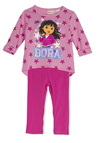 (22723EITWM) Dora the Explorer Little Girls Tunic and Legging Set in Pink Size: 18 MO