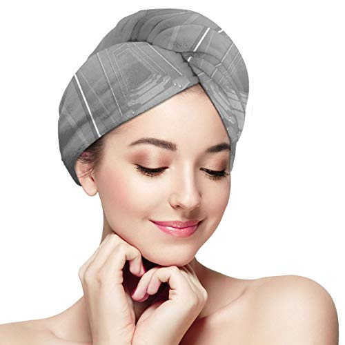 Quick Dry Hair Wrap Towels Turban,Satellite Scenery Cosmos Theme Space Style Extended Universe Galaxy Design Artwork,Absorbent Shower Cap (Pub At The End Of The Universe)
