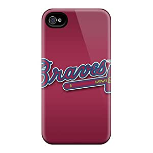 Excellent Hard Cell-phone Case For Iphone 6 With Provide Private Custom Realistic Atlanta Braves Skin KerryParsons