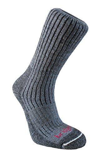 Bridgedale Mens Trekker Merino Fusion Socks, X-Large, Charcoal with Sock Ring