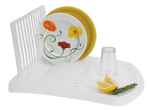 Better Houseware Folding Dish Rack Drain Board , opaque