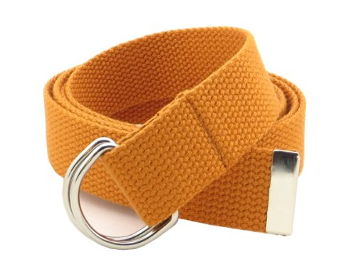 Belts Web Clothing - Thin Web Belt Double D-Ring Buckle 1.25