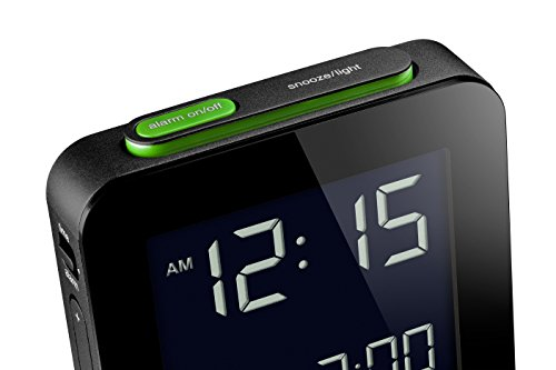 Braun BNC009BK Digital Quartz Alarm Clock