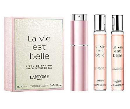 La Vie Est Belle by Lancome Eau de Parfum Spray 18ml & Refills 2 x 18ml