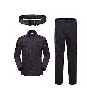 KYhao Traje táctico Militar de Camuflaje para Hombre, Caza, Combate BDU, Camisa Uniforme y Pantalones con cinturón para Tiro, Caza, Juego de Guerra, ...