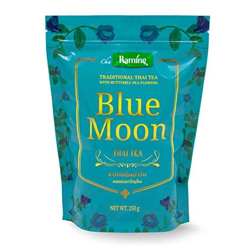 Traditional Thai Tea Mix 250g., Blue Moon Thai Tea, natural color, no dye, Authentic taste of original Thai iced tea