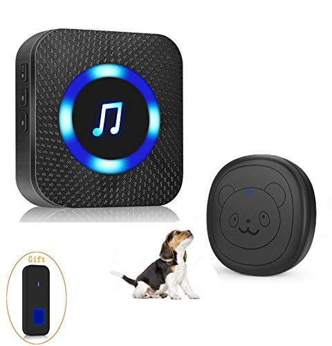 EverNary Dog Door Bell Wireless Doggie Doorbell for Potty Training with Warterproof Touch Button Dog Bells Included Receiver + Transmitter