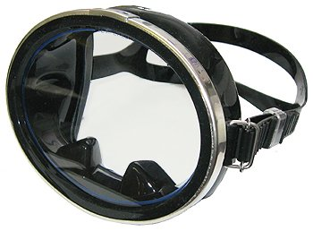 snorkeling with glasses n8hf  Promate Classic Oval Silicone Mask, Black