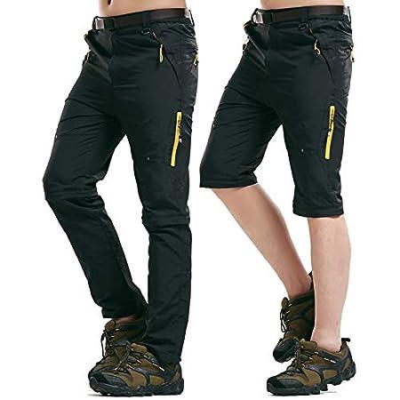 Los Hombres del Tama/ño Extra Grande De Atletismo De Secado R/ápido Pantalones Pantalones Impermeables Al Aire Libre Senderismo Viajes De Carga Lanceasy Hombres Pantalones Convertibles
