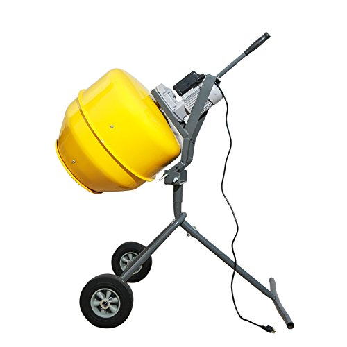Sky Eternity 1/2HP Electric Cement Mixer, 5 Cubic Ft, Portable Concrete Mixer Barrow Machine Mixing...
