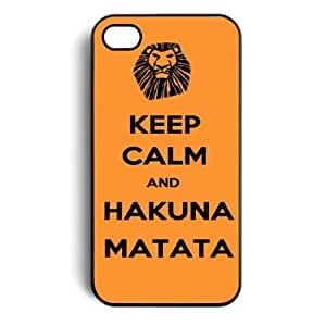 Keep Calm and Hakuna Matata Tribal Pattern Snap On Case Cover for Apple iPhone 4 iPhone 4s by Maris's Diary