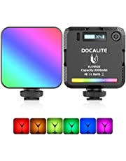 VIJIM VL64 RGB LED Video Light, 360° Full Color Camera Light w 3 Cold Shoe, 2000mAh Rechargeable Photography light for Video Shooting, 2500-9000K Dimmable Panel Lamp w LCD, Support Magnetic Attraction