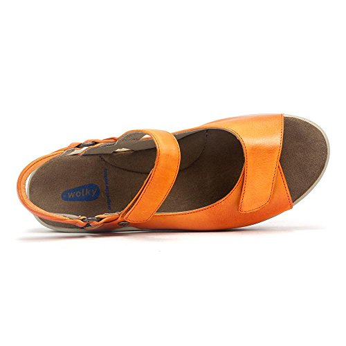 Sandals Pichu 555 Comfort Orange Wolky 01890 5xv4wwz