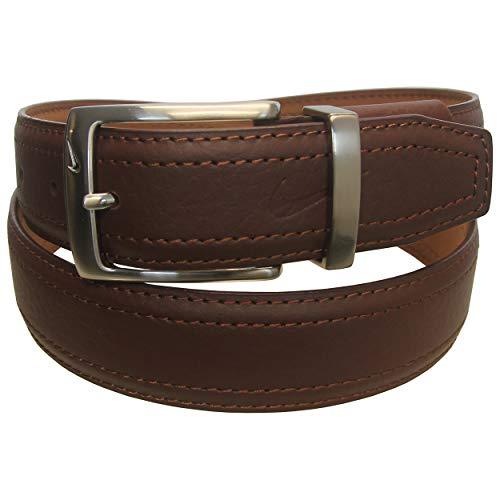 Plain Brown Leather - Nike Men's G-Flex Pebble Grain Leather Belt, Brown, 36