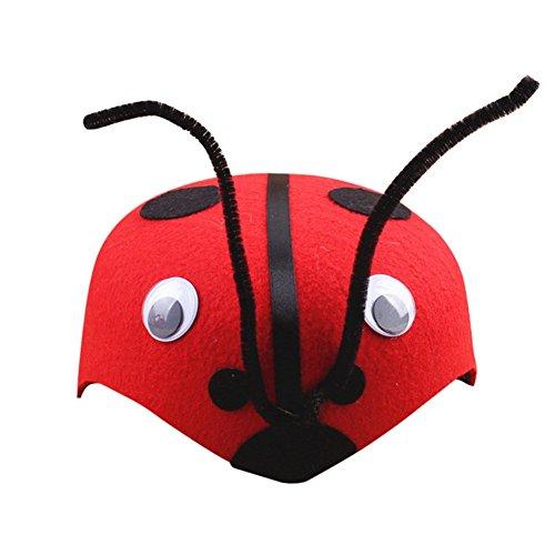 Remeehi Cartoon Animal Children Hats Kindergarten Role-playing Children Theater Festival Dressed Head Decoration (Lady Bug Custome)