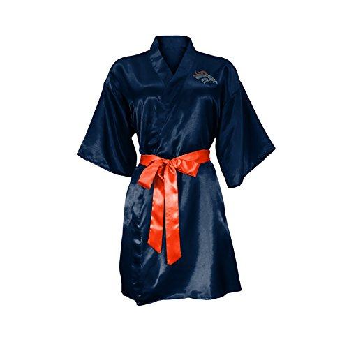 NFL Denver Broncos Satin Kimono, Small/Medium