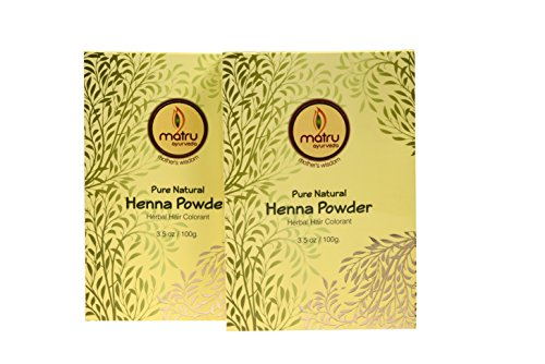 Pure, Natural and Chemical free bestseller Hair and Beard Color/Dye, Mehndi / Henna Leaves Powder Hair conditioner ; Ayurvedic / Herbal Hair Color, Covers Gray Hair (Twin) (Henna Leaf Powder)