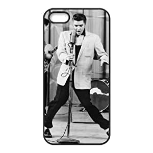 wugdiy Customized Hard Back Case Cover for iPhone 5,5S with Unique Design Elvis Presley