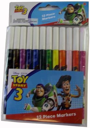 Toy Story Skinny Markers (12 Pack) - Toy Story 12 Piece Marker Set ...