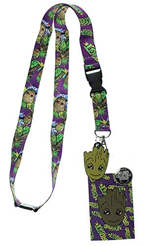 Character Key Ring - Guardians of the Galaxy Groot Character Lanyard Keychain