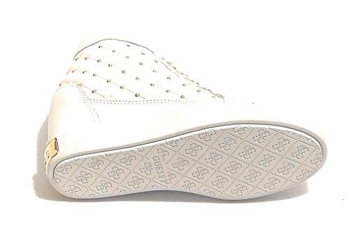 col Alto Sneaker MOD D19GU11 Zeppa Scarpe Guess Pelle Bianco FURR Donna Ct8xwOq