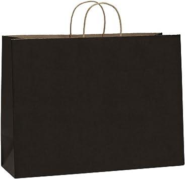 Amazon.com: BagDream - Bolsas de papel Kraft negras con asas ...