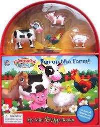 Farmyard Friends Fun on The Farm My Mini Busy Book~ 4 Farm (4 Action Figure Not Mint)