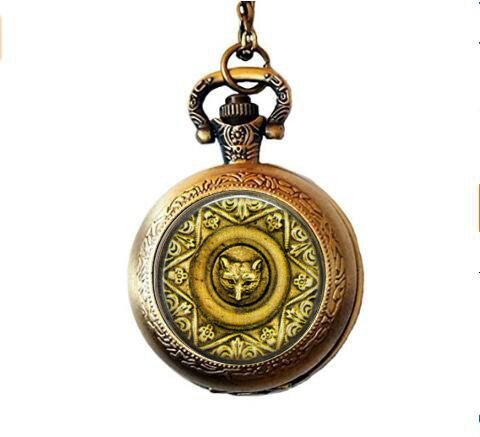 Fox Jewelry - Fox Face Medallion Pocket Watch Necklace - Fox Lover ()