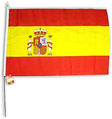 Market Suprem 15176 Bandera España 40 x 60 cm, con Varilla plástico 65 cm, Tela, Multicolor,: Amazon.es: Hogar