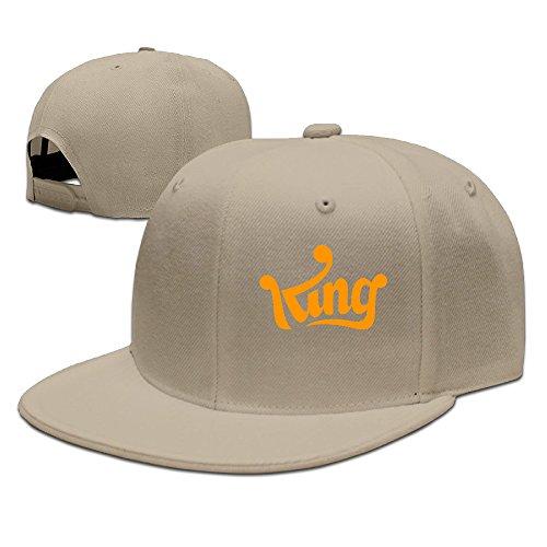 SSEE Unisex King Logo Snapback Baseball Hats Caps Natural (Bon Vintage Clock)