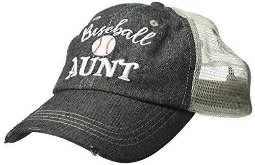 Cocomo Soul Embroidered Baseball Aunt Mesh Trucker Style Hat Cap Grandma Gift Mothers Day Dark Grey