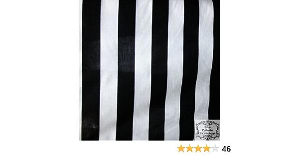 Black white striie Poly cotton 1 stripe  POLY-COTTON 58 wide 5 yards