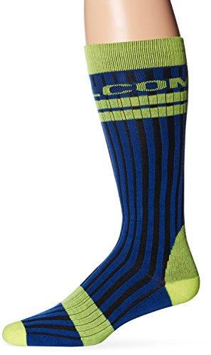 Volcom Men's The Crew Sock, Blue/Black, Small/Medium