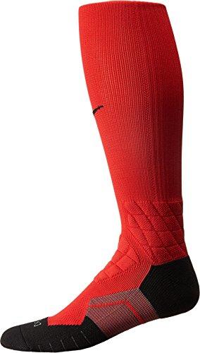 (Nike Elite Vapor Over the Calf Men's Football Training Socks (MD Men's Shoe 6-8), 660 University Red/Black))