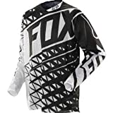 Fox Racing 360 Given Airline Men's Motocross/Off-Road/Dirt Bike Motorcycle Jersey - White/Black / Large