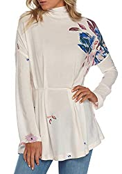 Free People Womens Gemma Tunic (Ivory, Large)