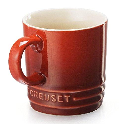 (Le Creuset PG8005-0067 Stoneware Petite Espresso Mug 3.5 Ounce Cherry)